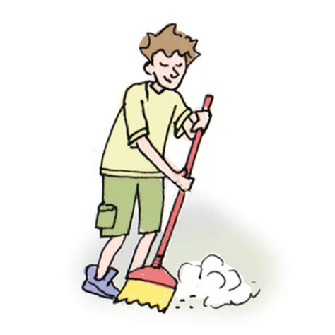 Sweep Floor by Household Chores 1 Cglearn It