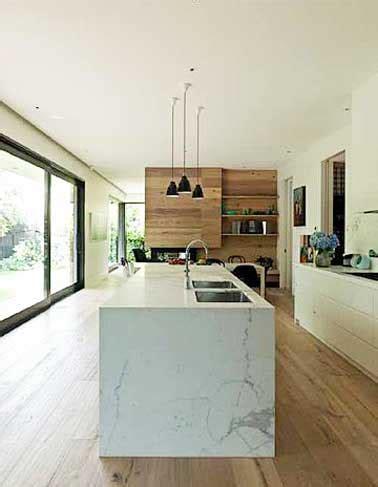 cuisine teck d 233 co cuisine avec 238 lot central en marbre et parquet teck