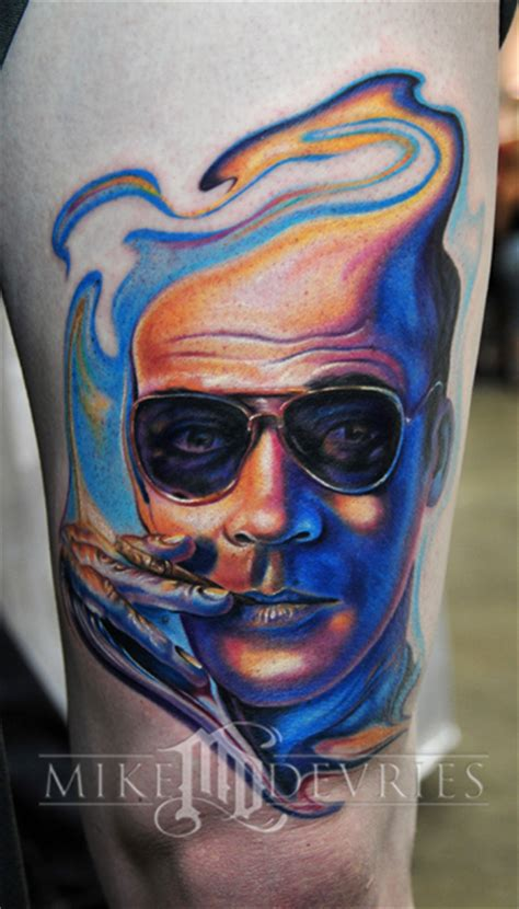 hunter s thompson tattoo mike devries tattoos portrait s thompson