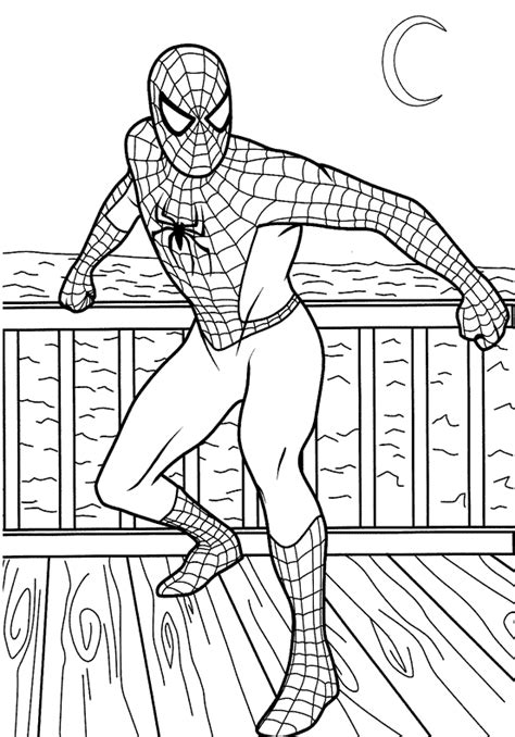 coloring pages fun spiderman coloring pages