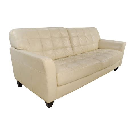 milan leather sofa macys 68 off macy s macy s milan white leather couch sofas