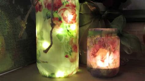 How To Decoupage Glass Jars - repurpose glass jars faux encaustic decoupage