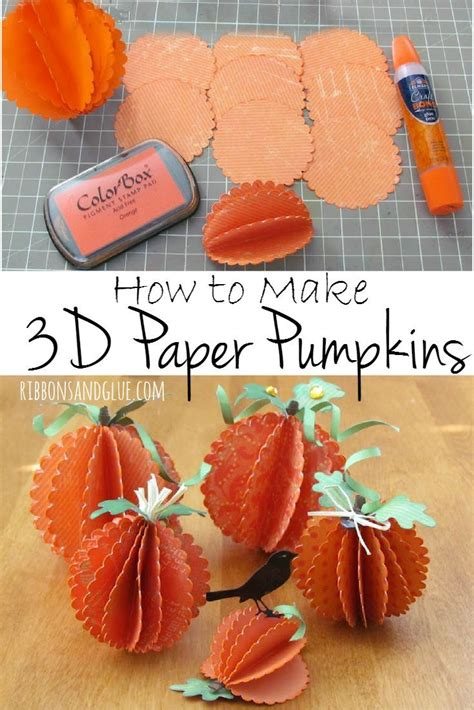 How To Make 3d Pumpkin Out Of Paper - fall scarecrow and pumpkin centerpiece 3d decoration