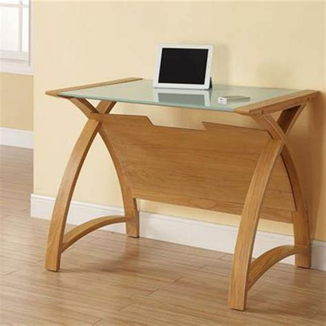 Cohen Curve Laptop Table Small In Milk White Glass Top And Milk Tiny Desk