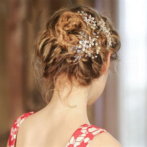 Retro Wedding Hair Accessories by Vintage Gold Leaves Bridal Hair Combs Wedding Hair