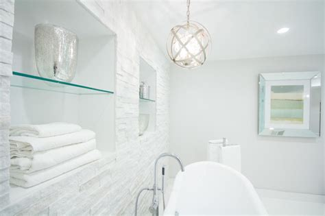 Bathroom Towel Rack Ideas Niches Over Tub Contemporary Bathroom