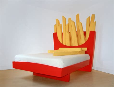 food bed unique bed with giant french fries headboard supersize