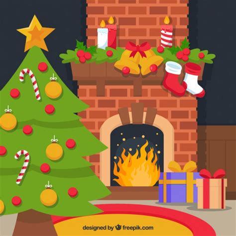 casa arbol navidad interior de casa con chimenea y 225 rbol de navidad