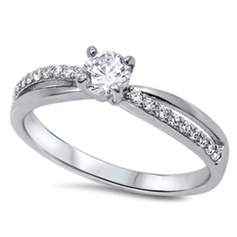 s solitaire white cz promise ring sizes 5 6 7 8 9