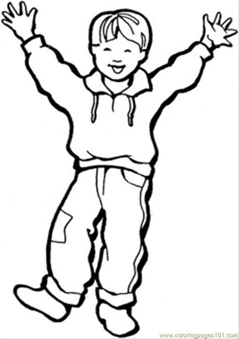 coloring pages happy little boy peoples gt gender free