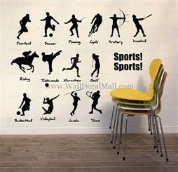 Wall Stickers Sports collective sports wall decals walldecalmall com
