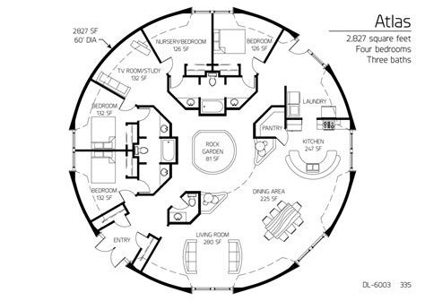 monolithic dome home plans floor plan dl 6003 monolithic dome institute