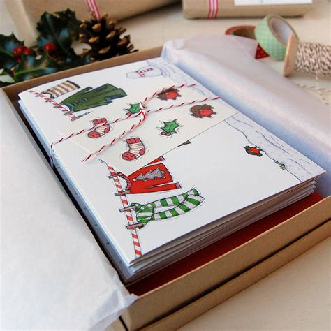 Macy S Christmas Gift Card - little boy s washing line christmas cards by clara and macy notonthehighstreet com