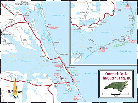 map of outer banks nc outer banks vacation guide north carolina outer banks map