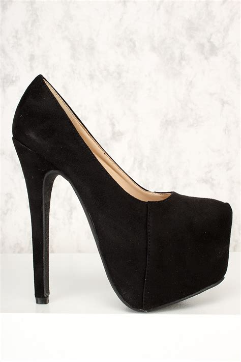 high heels black platform ami clubwear high heels