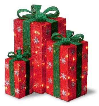 Outdoor Lighted Gift Boxes Christmas Gifts For Everyone Outdoor Lighted Presents