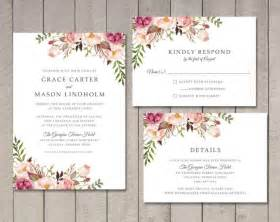 floral wedding invitation rsvp details card printable by vintage sweet 2524746 weddbook