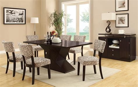 coaster dining room set libby cappuccino dining room set from coaster 103160