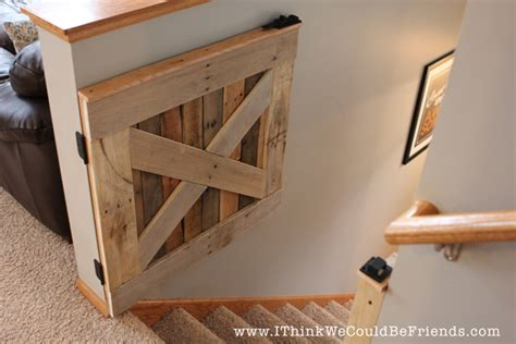 custom home design checklist a diy baby gate chris loves diy palette wood baby pet gate i think we could be friends