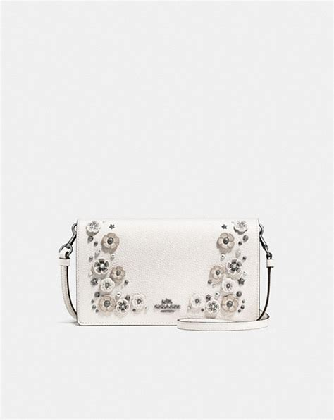Pauric Sweeney Pebble Detail Clutch by Coach Foldover Crossbody Clutch In Polished Pebble