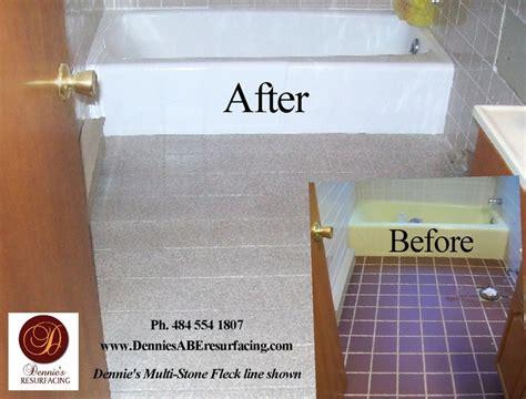 Bathtub Reglazing and Floor Tile Resurfacing, Multi Stone