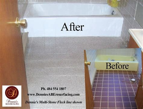 Bathtub Reglazing and Floor Tile Resurfacing, Multi Stone