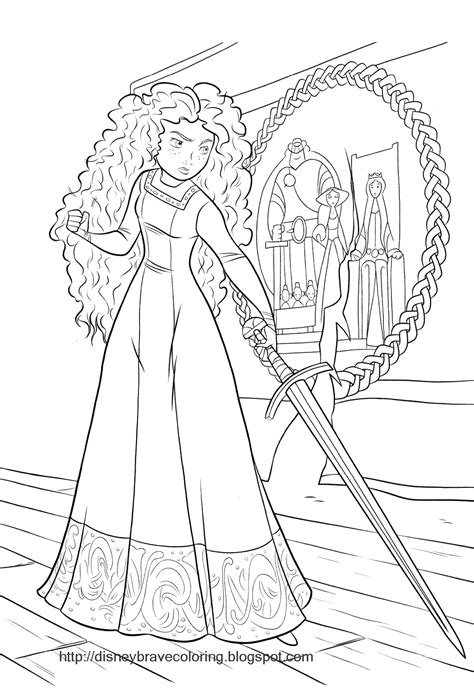 coloring pages disney brave brave merida coloring pages