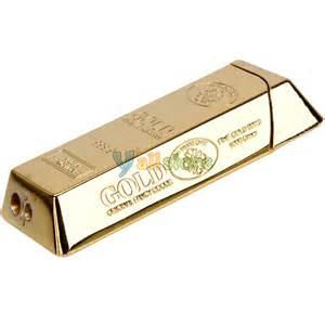 fashion gold bar style refillable butane gas cigarette cigar lighter