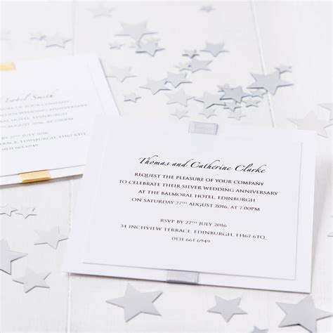 not on the high elegance wedding invitation silver wedding anniversary elegance invitation by twenty seven notonthehighstreet