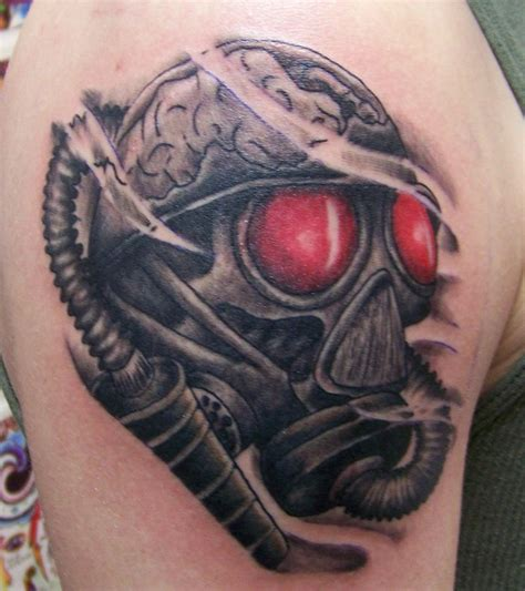 tattoo eye mask red eyes gas mask tattoo by brian desourdy