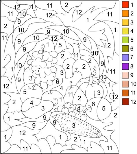 Color By Number Thanksgiving Coloring Page Nice Thanksgiving Color By Number Pages