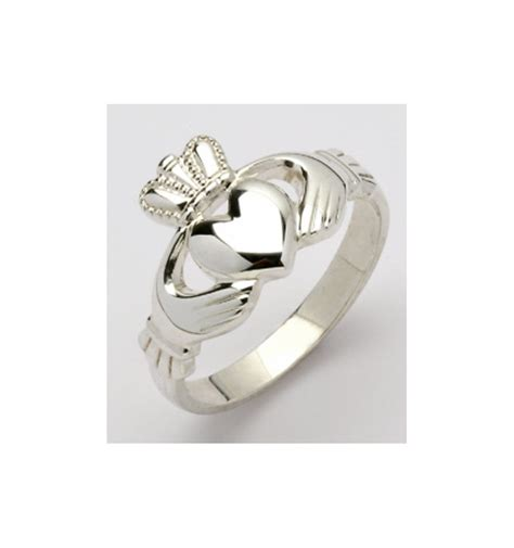 Handcrafted Silver - silver claddagh ring