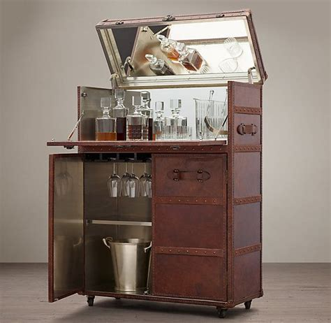 restoration hardware liquor cabinet mayfair bar cart vintage cigar living room