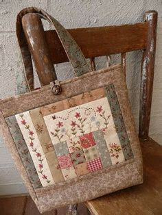 Patchwork Bag Designs - i the look of this patchwork embroidery mix the