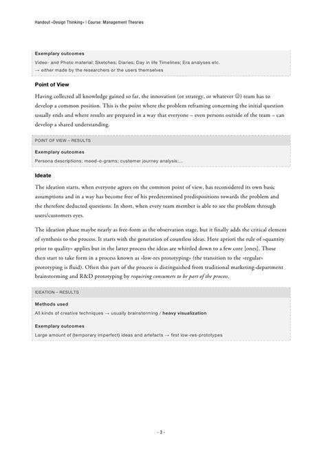 typography handout design thinking handout