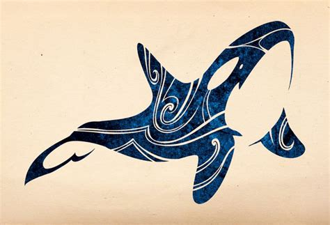 tribal whale tattoo best 25 orca ideas on whale painting
