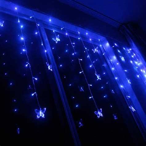 Led Butterfly String Lights Christmas Wedding Curtain Butterfly Lights String