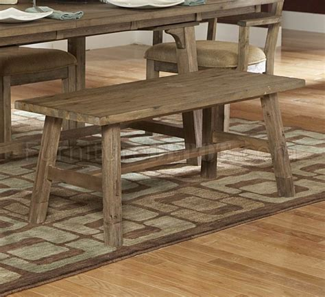 weathered driftwood finish transitional dining table w options