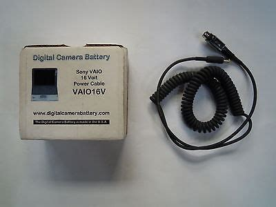 Adaptor Sony Vaio 16 Volt power cable 16volt for sony vaio digital battery 16 volt