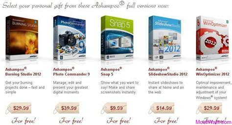 Free Christmas Giveaways 2012 - ashoo giveaway 5 full version software for free most i want