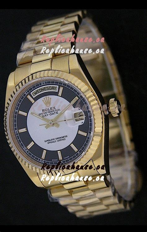 Rolex Day Date Best Edition Black Stick Clone 1 1 1 rolex day date just japanese replica yellow gold in