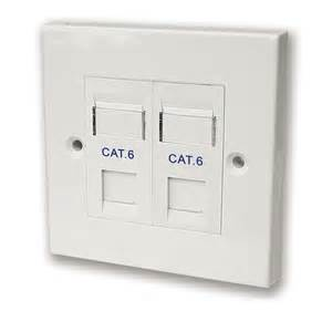 cat 6 double socket rj45 complete outlet p n sx7062wh at