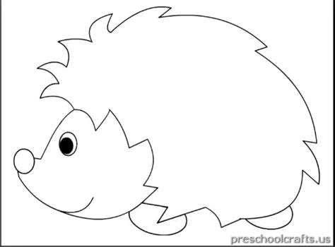 free printable hedgehog coloring pages for children