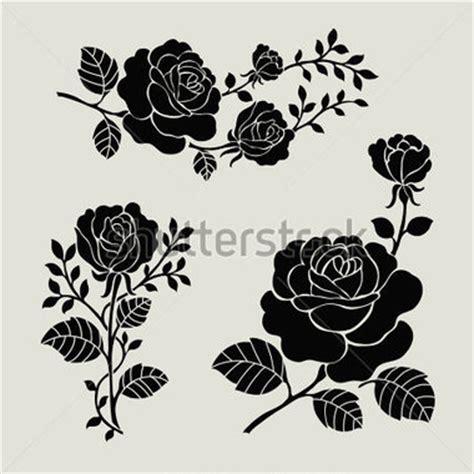 Rosebud Putih blume motiv vintage sammlung mit floralen elementen