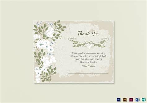 thank you card illustrator template vintage thank you card template in psd word publisher