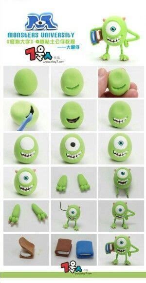 tutorial menggambar monster inc monsters university mike wazowski picture tutorial fimo
