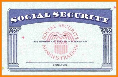 Editable Social Security Card Template by Social Security Card Template Incheonfair