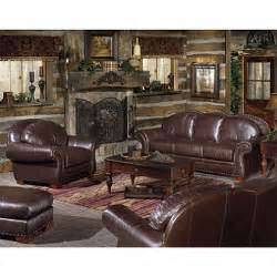 Sam S Club Furniture Living Room Set Telluride Living Room Collection Leather Sofa Set 4 Pc