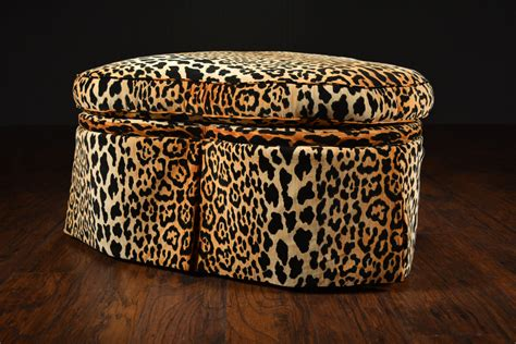 cheetah print ottoman fresh austin leopard print ottoman in tan and black 20568