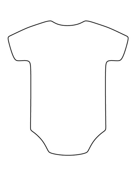 baby template onesie pattern use the printable outline for crafts